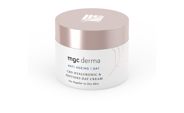 MGC Derma - CBD Hyaluronic And Peptides Day Cream - For Regular To Dry Skin | SALE 50% DISCOUNT - The Emporium for CBD Oil