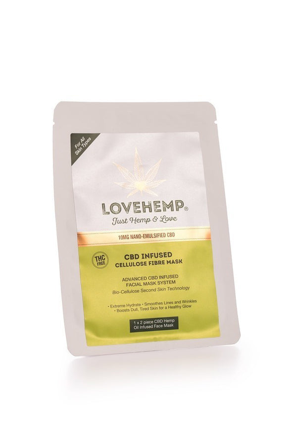 Love Hemp® CBD Infused Cellulose Fibre Mask – 10mg - The Emporium for CBD Oil
