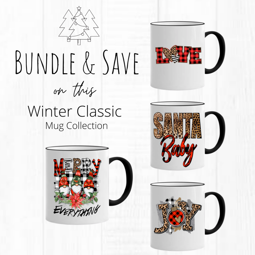 Bundle & Save Leopard and Plaid Print Mug Collection