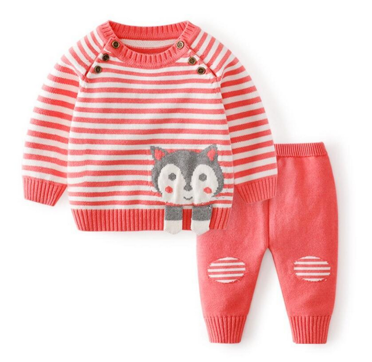 Knit Kitty Two Piece Outfit