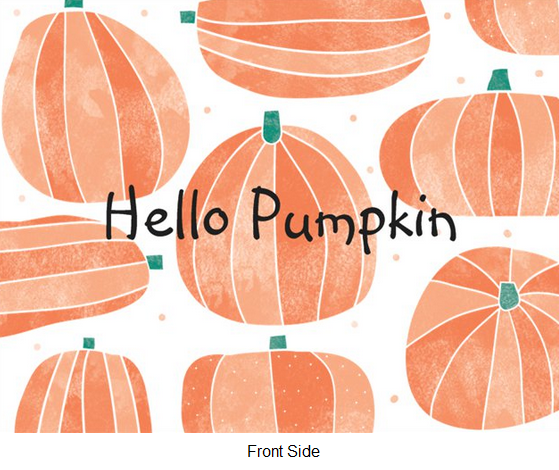 FREE Hello Pumpkin Card