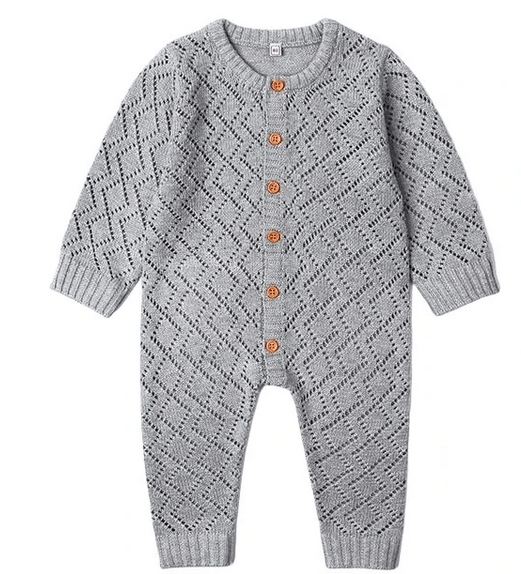 Grey Knit Onesie
