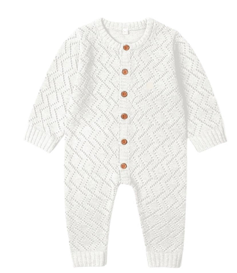 White Knit Onesie