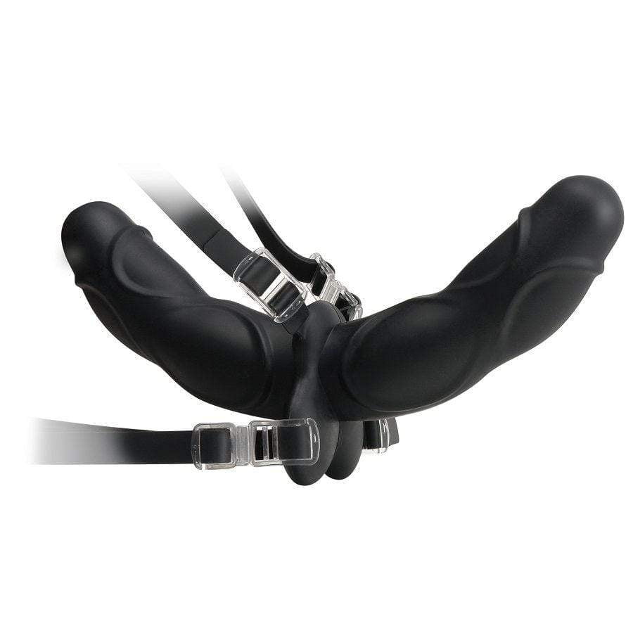 FETISH FANTASY ELITE FETISH FANTASY ELITE DOUBLE DELIGHT STRAP-ON BLACK WISHMEAYE