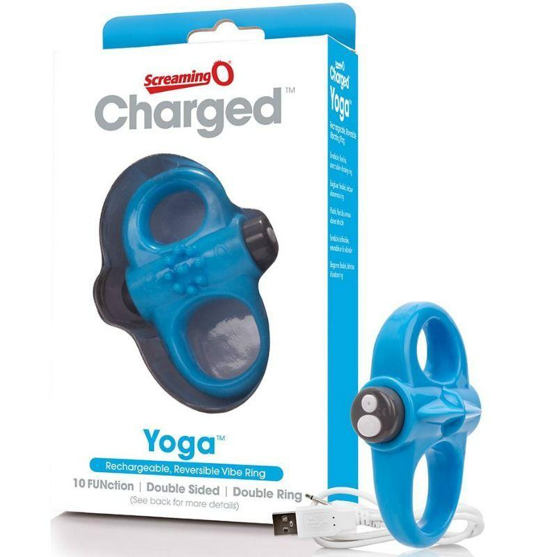 SCREAMING O SCREAMING O RECHARGEABLE AND VIBRATING RING YOGA BLUE WISHMEAYE