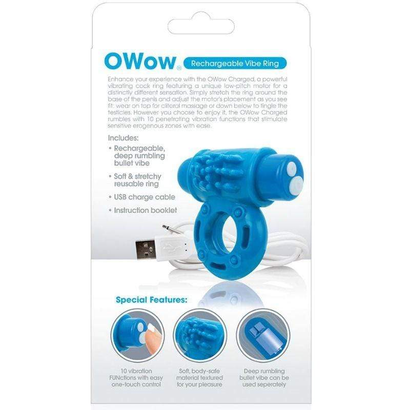 SCREAMING O SCREAMING O VIBRATING RECHARGEABLE RING O WOW BLUE WISHMEAYE