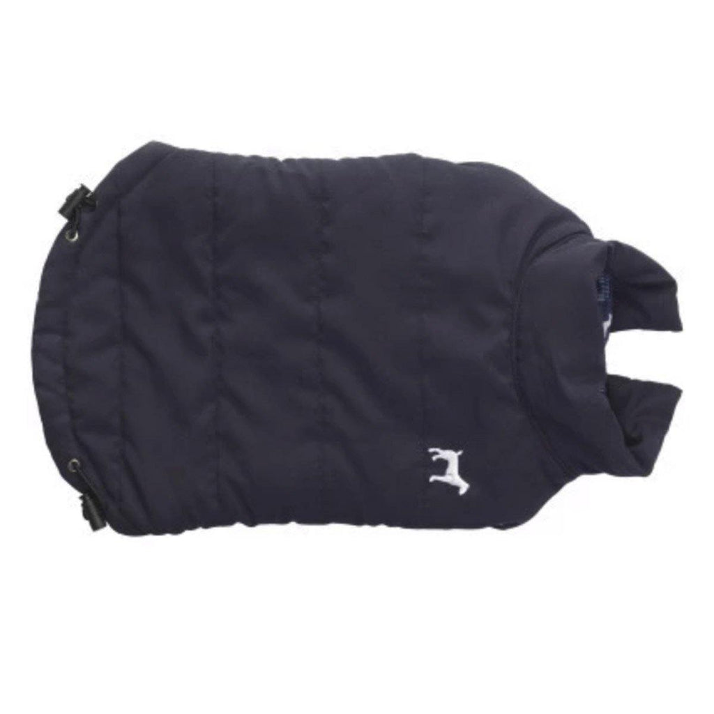 Hundemantel blau mit Fleece