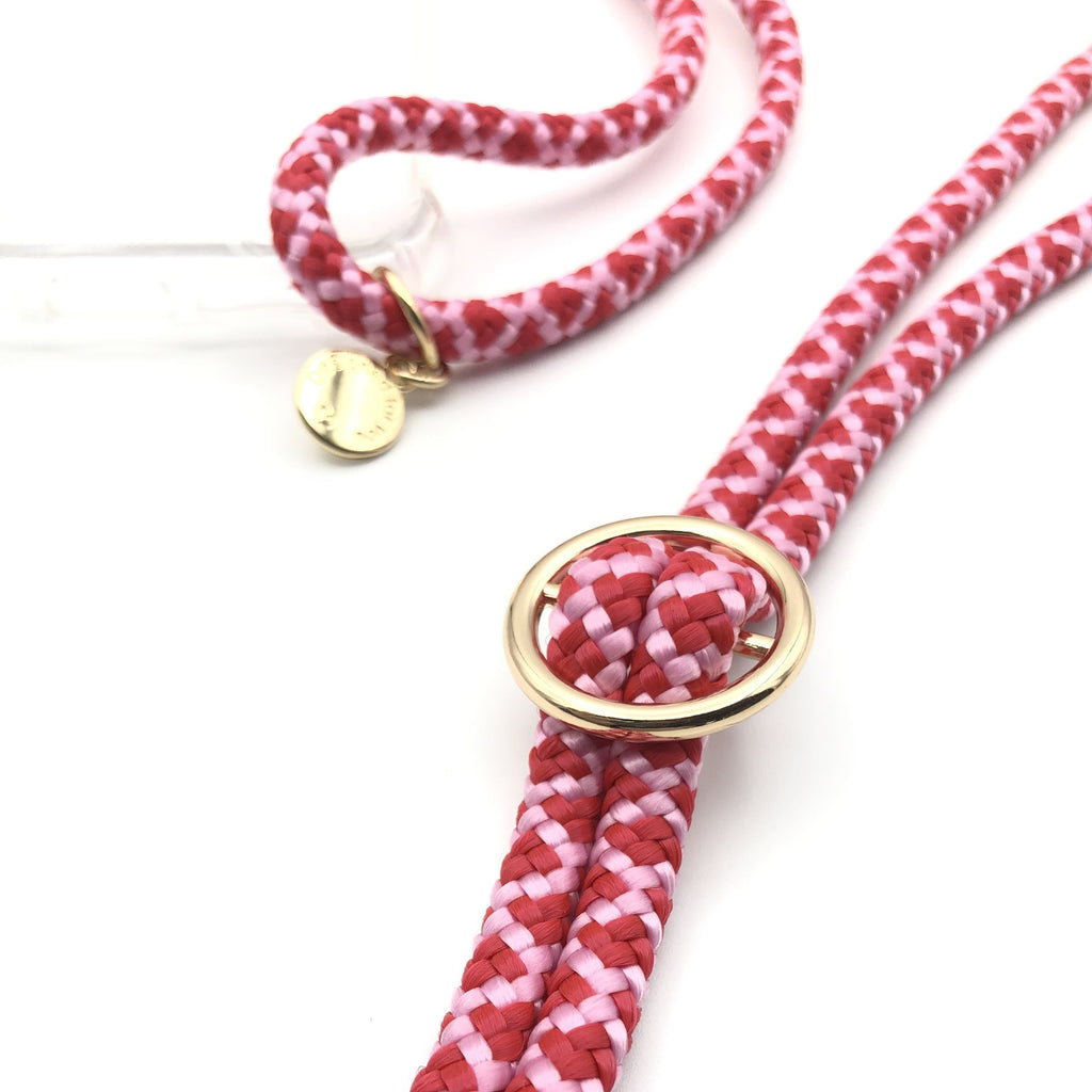 Pink rote Handykette - Phone Necklace - ab Modell iPhone 6 bis 11 Pro Max