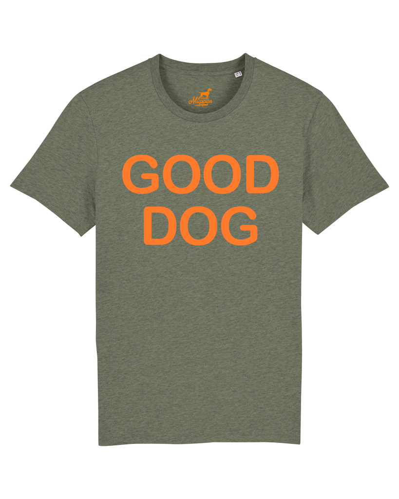 Good Dog T-Shirt Unisex olive/orange, T-Shirt - Van Muppen