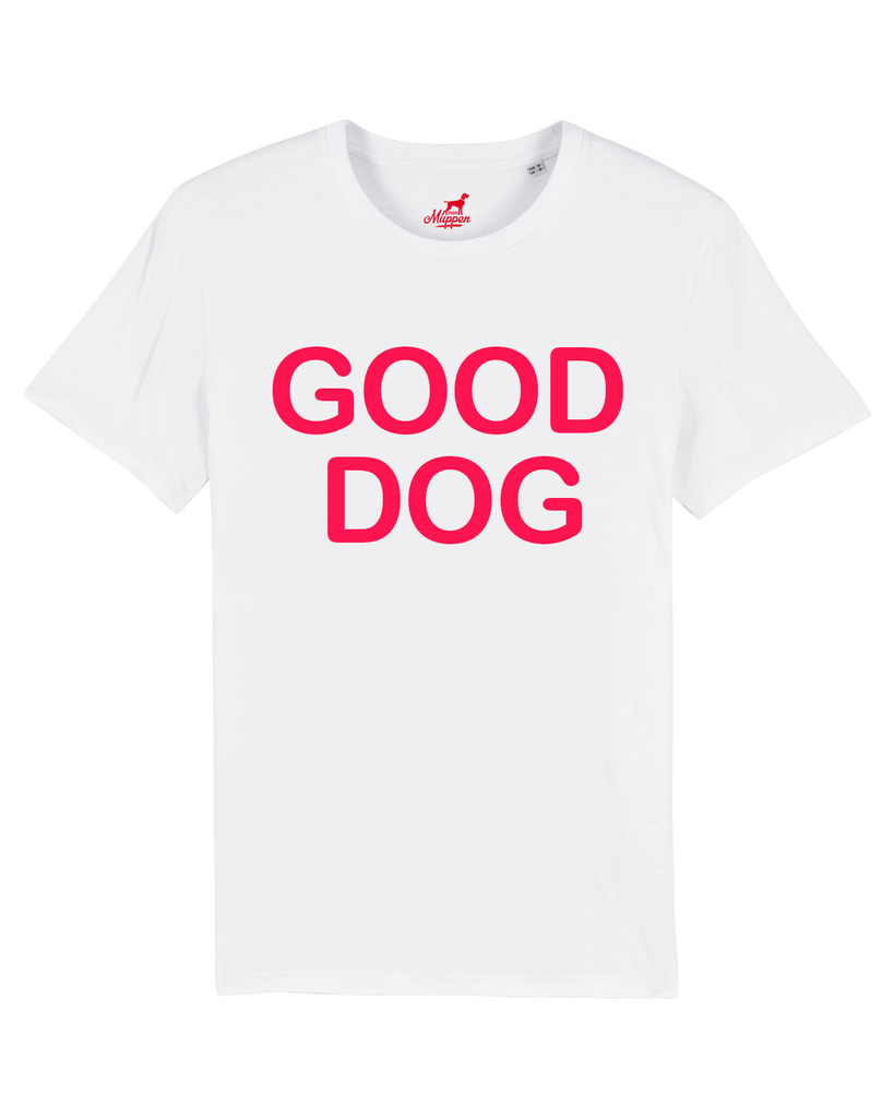 Good Dog T-Shirt Unisex weiß/rot, T-Shirt - Van Muppen