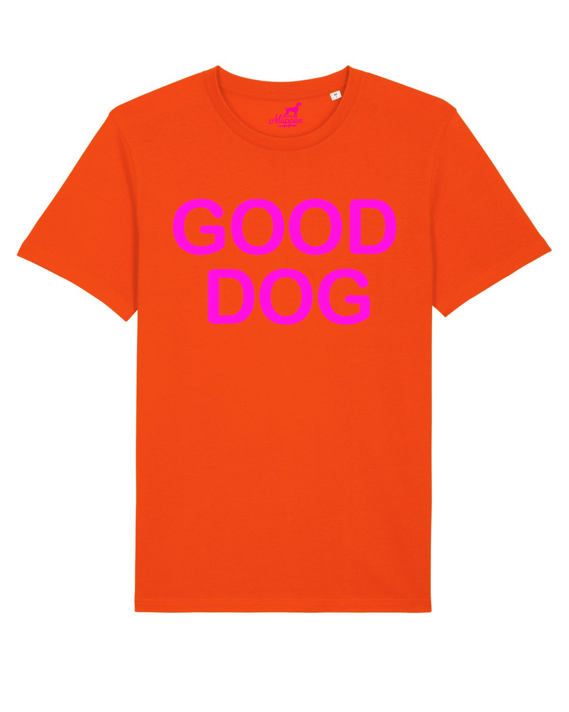 Good Dog T-Shirt Unisex orange/pink - Van Muppen