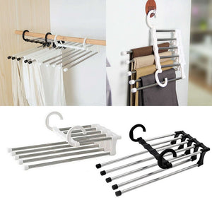 5 in 1 Portable Multifunctional Stainless Steel Pants Trousers Rack