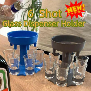6 Shot Glass Dispenser and Holder/Carrier Caddy Liquor Dispenser Party Gifts Drinking