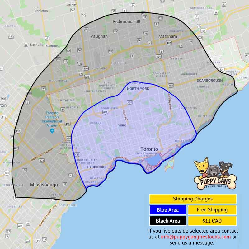 Puppy Gang Delivery Map