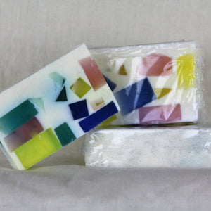 "Goats Milk ""Stained Glass"" Soap Bar"