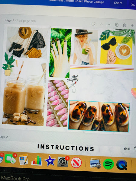 press on nail mood board