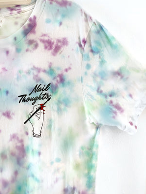 Pacific Ocean Blue Tie Dye Nail Thoughts shirt