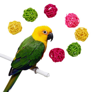 10pcs Colorful Rattan Balls-Bird Supplies