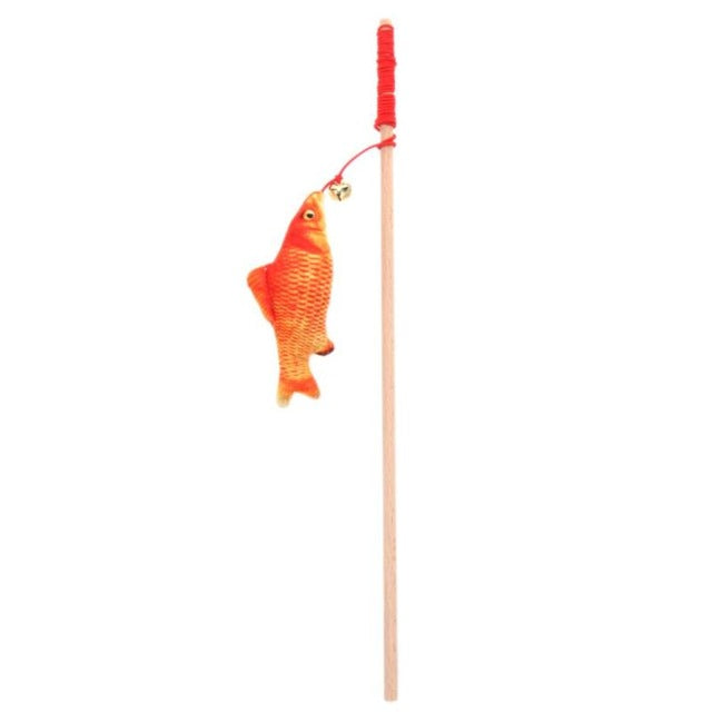 Fish On A Stick-Cat Wand Toy