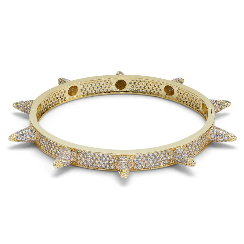 18k Gold Plated Iced Out Spike Bracelet - EM General