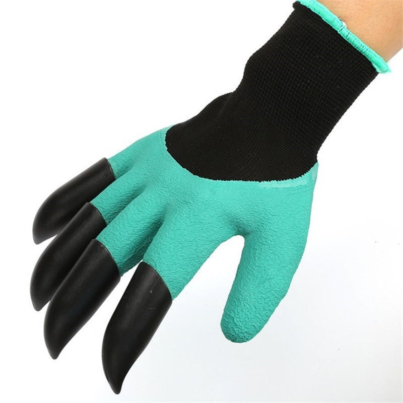 Heavy Duty Gardening Rake Claw Digging Waterproof Gloves - EM General