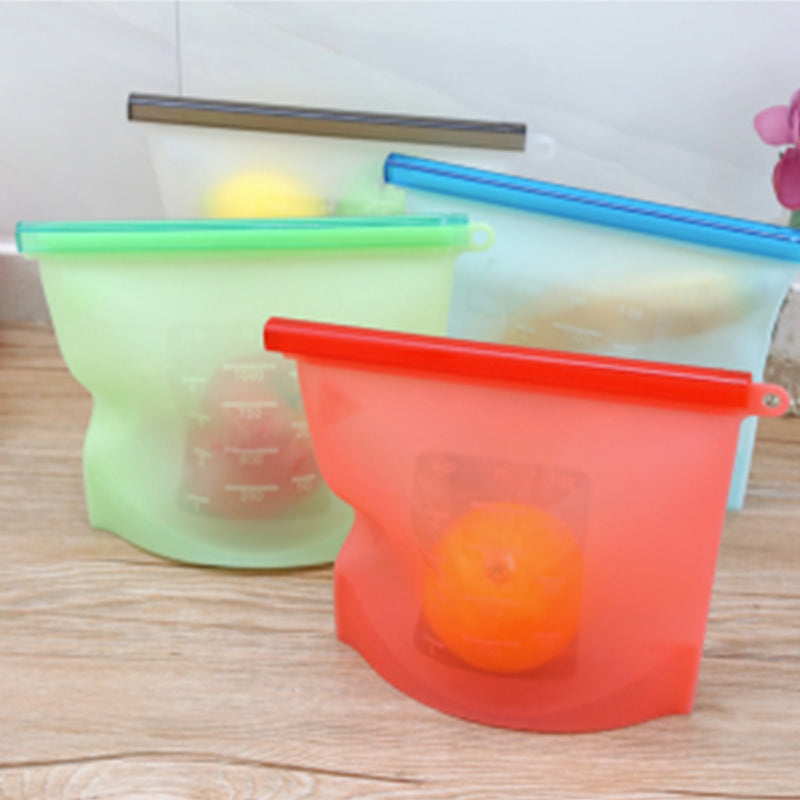 Silicone Reusable Food Storage Sandwich Vac Bag 4Pcs 1000ml - EM General