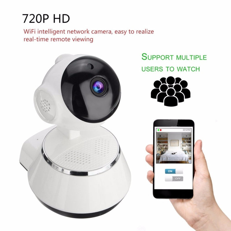 Home Security Camera with Wifi IP, 3.6mm Lens Wide Angle - Baby monitor Support and  Night Vision 24h Video Recording - EM General