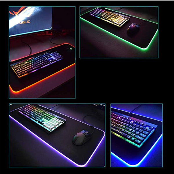 Led Big Gaming RGB Mouse Pad - Glowing Non-slip Mat - EM General