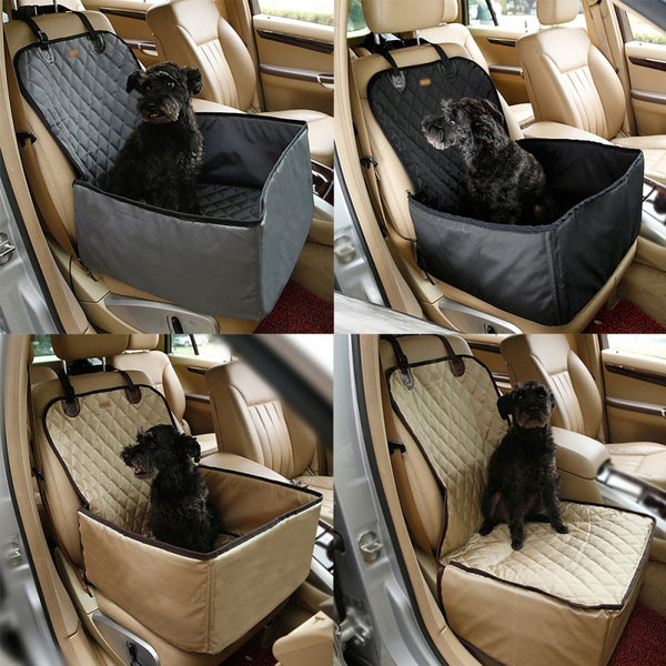2 in 1 Pet Booster Car Seat Cover for Dogs, Puppies, Cats - EM General