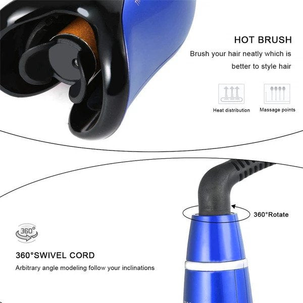 Air Spin n Curl - Automatic Ceramic Rotating Magic Hair Curler - Features Beach Waves & Luxurious Curls - EM General
