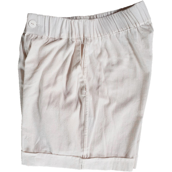 Elastic Chino Short in natural white cotton