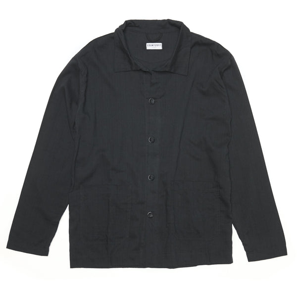 Workwear Jacket in bamboo cotton - counterfitstudio