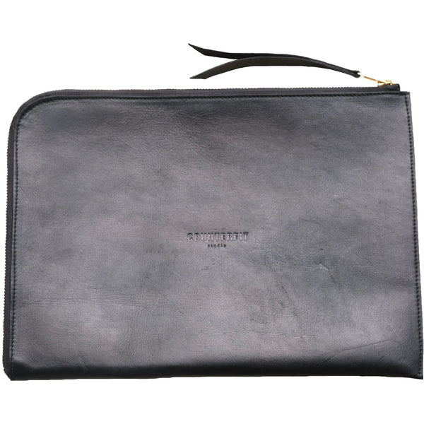 Laptop and document holder in suede leather - counterfitstudio