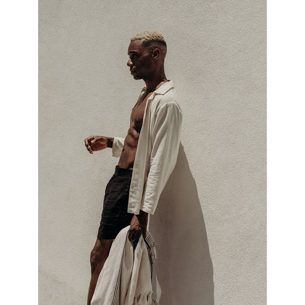 Workwear Jacket in off white cotton - counterfitstudio