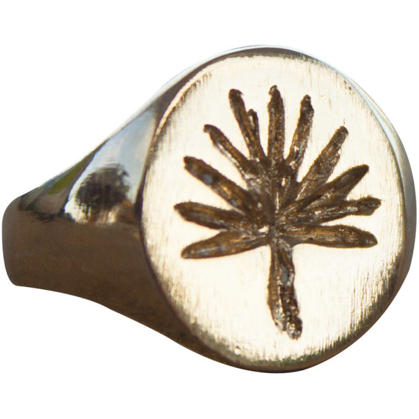 Signet Silver Ring Tulum in 24K Gold plated
