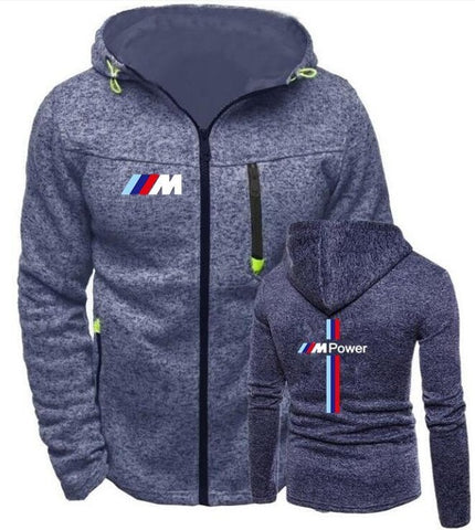 Men's Gray Blue BMW M Power - Jacket