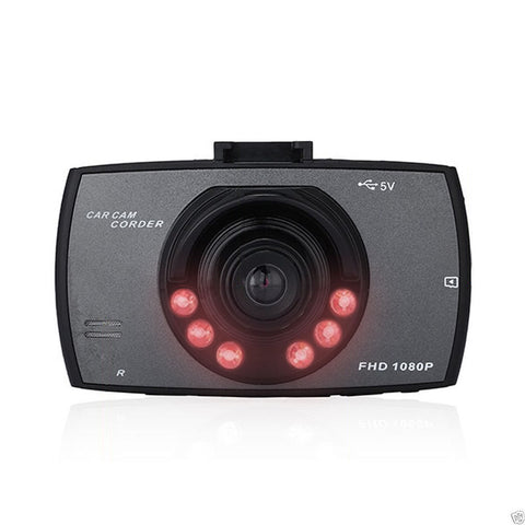 Dashcam: 1080P +150 Degree + Motion Detection + G-Sense + Microphone + Full LCD Display