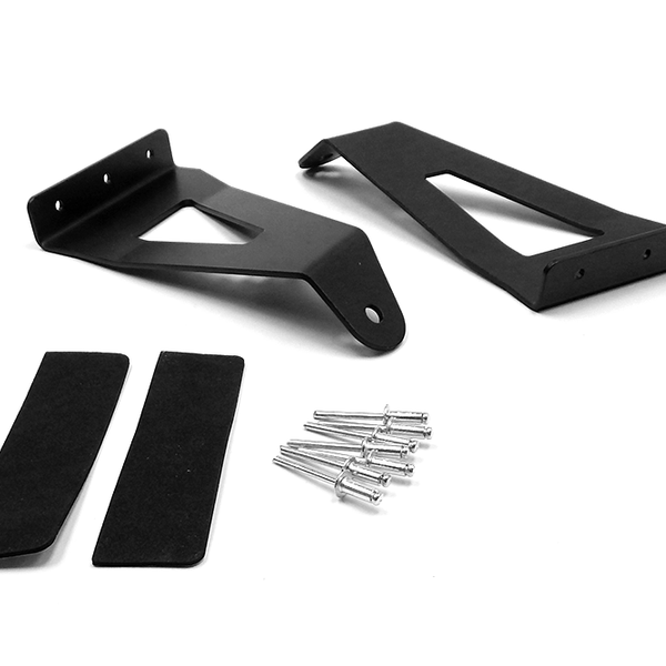 54-inch Curved LED Light Bar Upper Windshield Mounting Brackets (Ford F150)Ford: 04-14 F150 4WD/2WD