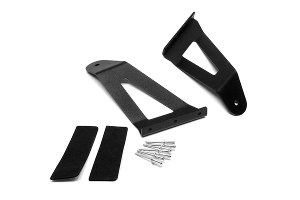 50-inch Curved LED Light Bar Upper Windshield Mounting Brackets (Jeep Cherokee XJ / Comanche MJ)Jeep: 84-01 Cherokee XJ 4WD/2WD, 86-92 Comanche MJ 4WD/2WD