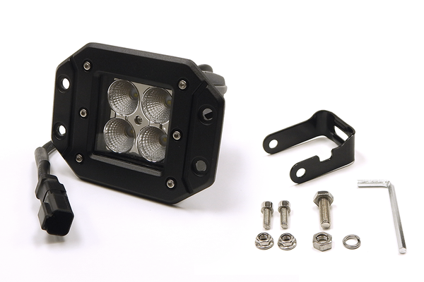 "3"" X 3"" 16W Square Flush Mount LED Light Spot Beam (DT Harness 79900)  1,440 Lumens each"