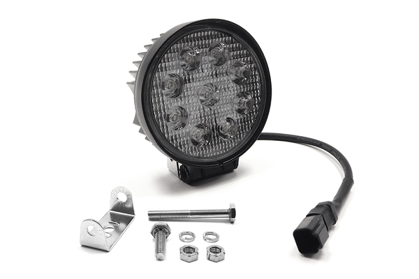 "4.5"" 27W Round LED Light Flood (DT Harness 79900)  2,160 Lumens each"
