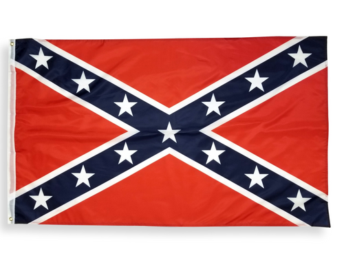 Confederate Flag | 3x5 Polyester Stainless Banner | Bright Colored Rebel Flag | Shipped from USA