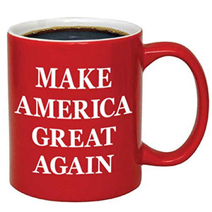 Donald Trump Make America Great Again Ceramic Coffee Mug (11 oz, Red/Maga)
