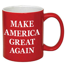 Load image into Gallery viewer, Donald Trump Make America Great Again Ceramic Coffee Mug (11 oz, Red/Maga)