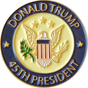 Donald Trump 45th President Lapel Pin | Trump Pin with Gift Box, Pack of 2 Pins, White House Presidential Souvenir and Collection