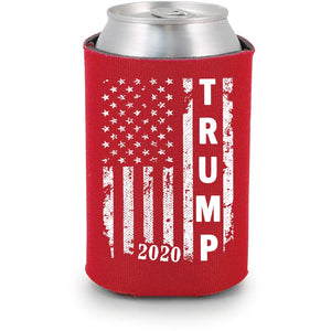 Trump 2020 |  Red Can Koozie Political Drink Coolers (Red, 6)