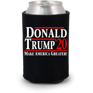 Donald Trump 2020 | Make America Greater ~ Political Drink Koozies (Black, 6) Black