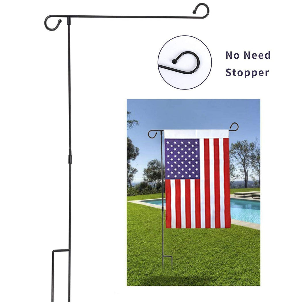 Wrought Iron Garden Flag Stand