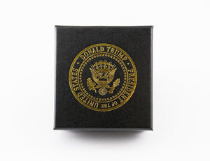 President Donald J. Trump American Flag Lapel Pin - Limited Edition Gold Lapel Pin