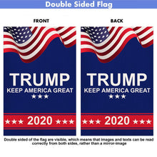 Load image into Gallery viewer, American Trump Keep America Great 2020 Burlap Garden Flag Double Sided